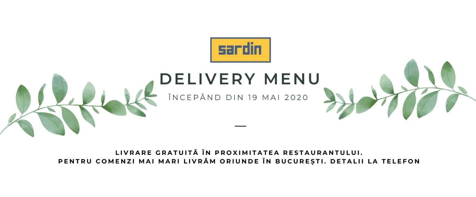 Meniu Delivery Restaurant Sardin